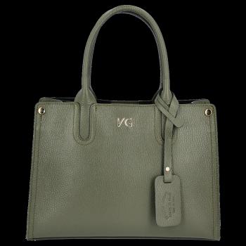 Vittoria Gotti Klasyczny Kuferek Skórzany Made in Italy Butelkowa Zieleń