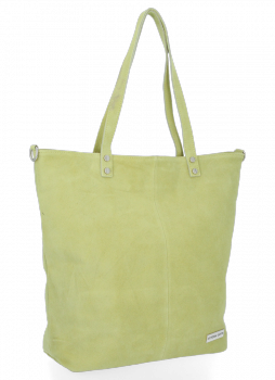 Uniwersalna Torebka Skórzana Shopper Bag firmy Vittoria Gotti Limonka