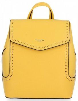 Uniwersalne Plecaczki Damskie na co dzień firmy David Jones Żółty