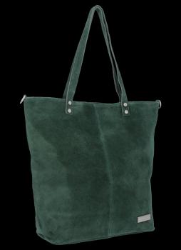 Uniwersalna Torebka Skórzana Shopper Bag firmy Vittoria Gotti Butelkowa Zieleń