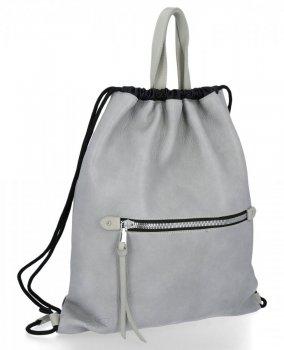 BEE BAG Torebka Damska Worek typu Shopper Bag Beatrice Jasno Szara