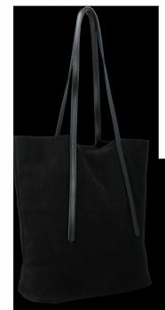 Włoskie Torebki Skórzane Uniwersalny Shopper renomowanej firmy Vittoria Gotti Czarna