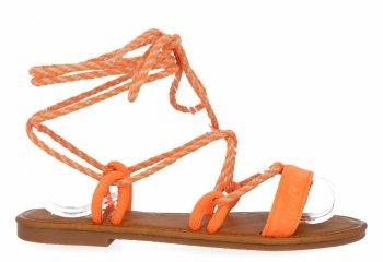 Pomarańczowe modne sandały damskie firmy Givana