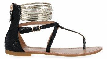 Czarne stylowe sandały damskie firmy Sergio Todzi