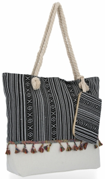 Modna Torebka Damska Boho Style w rozmiarze XL Aztec Czarna