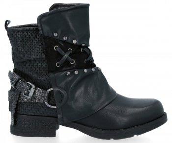 Czarne modne botki damskie Alex