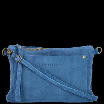 Vittoria Gotti Praktyczna Firmowa Listonoszka Skórzana / Kopertówka Made in Italy Jeans