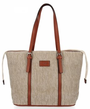 Ratanowe Torebki Damskie Shopper Bag firmy David Jones Ruda