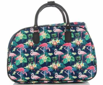 Średnia Torba Podróżna Kuferek Or&Mi Flamingil Multikolor - Granatowa