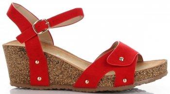 Uniwersalne Buty Damskie Koturny firmy Lady Glory Czerwone