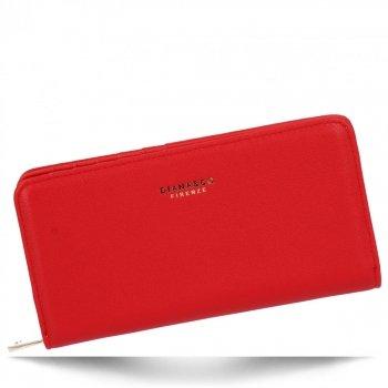 Uniwersalny Portfel Damski w rozmiarze XL firmy Diana&Co Czerwony