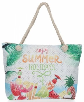 Ażurowana Torba Damska w modne wzory Summer Holidays idealna na lato Multikolor