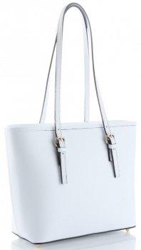 Klasyczne Torebki Skórzane Genuine Leather Biała