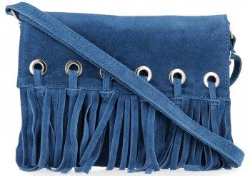 Vittoria Gotti Made in Italy Rewelacyjna Listonoszka Skórzana w stylu Boho Jeans