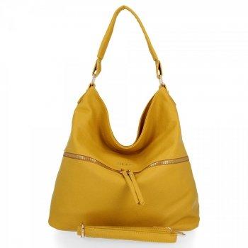 BEE BAG Uniwersalna Torebka Damska Denise w rozmiarze XL Żółta
