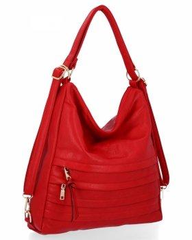 BEE BAG je univerzálna dámska taška s funkciou batohu Judite červený