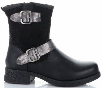 Dámske členkové topánky s prackami značky Lady Glory čierny