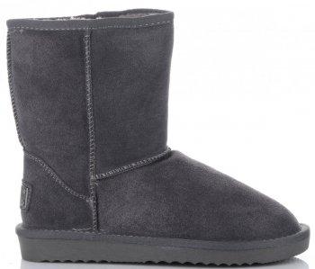 Talianske kožené členkové topánky dámske zimné topánky Šedá