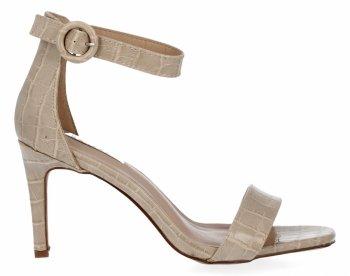 Béžové sandále s vysokým podpätkom v zvieracom štýle Bellucci
