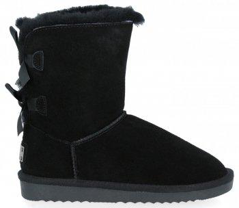 Módne dámske zimné topánky čierne