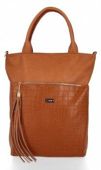 Štýlová dámska taška Conci veľkosti XL Ruda