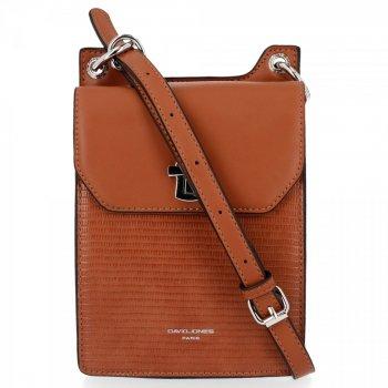 Kabelky značky David Jones Dámske elegantné tašky Messenger červené