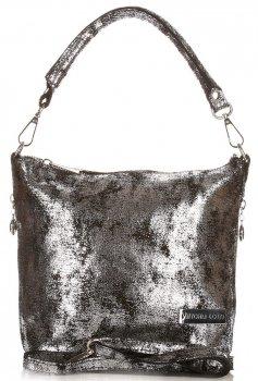VITTORIA GOTTI vyrobené v Taliansku Elegantná taška Messenger kožená čierna taška Messenger