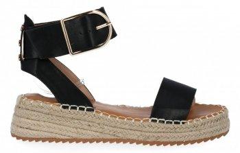 Čierne dámske espadrille sandále na platforme Lady Glory