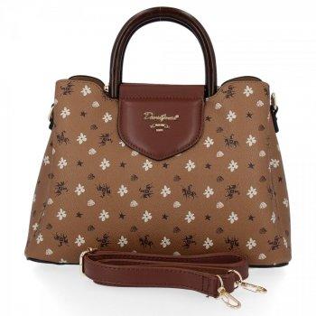 David Jones módna taška dámska taška 3 priehradky Červená