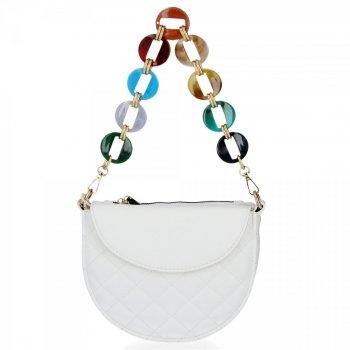 Elegantná Dámska prešívaná taška Herisson biela
