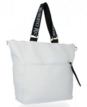 Roberto Ricci módna dámska taška Veľkosť XL Biela