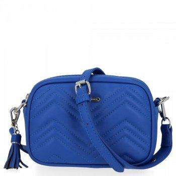 Malá dámska módna taška David Jones modrý