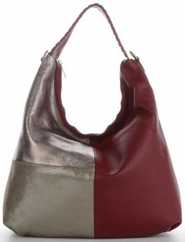 Talianska univerzálna Kožená taška veľkosti XL s módnym dizajnom Červená