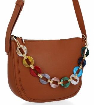 Herisson Firemná dámska taška na posol, perfektná príležitostná hnedá