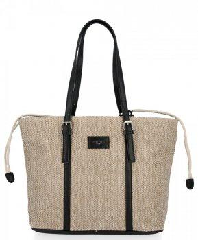 Ratanové tašky pre ženy Shopper taška David Jones čierny