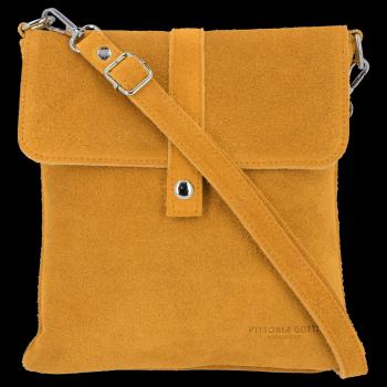 Univerzálna kožená poštová taška Vittoria Gotti svetlo červená