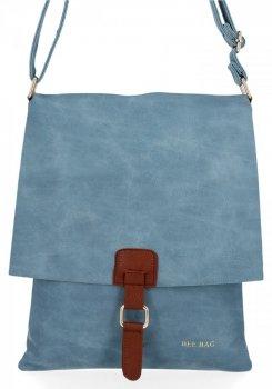 BEE Bag módna dámska taška Messenger XL Napoli Svetlo modrá