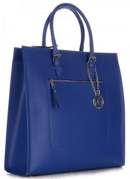 Elegantná Kožená taška VITTORIA GOTTI Modrá
