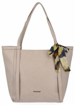 David Jones univerzálna dámska taška Shopper taška s šatkou Šedá