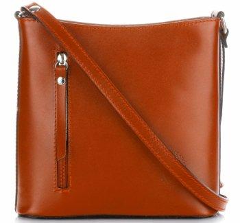 Klasická Taška Na Messenger Vyrobená Z Pravej Kože Pelle Ruda