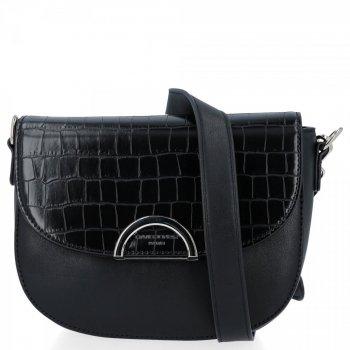 Elegantná dámska taška na posol v štýle zvierat David Jones čierny