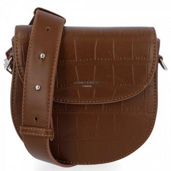 David Jones Elegantné Dámske tašky Messenger v zvieracom motíve hnedý