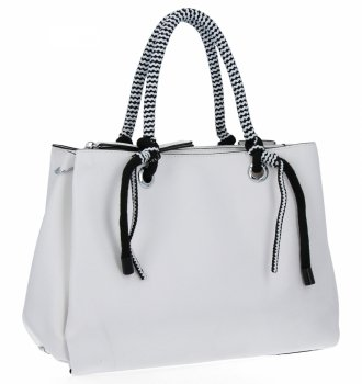 Dámska taška s tromi bunkami, Venere biela taška