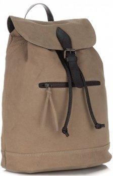 Ženský kožený batoh Vittoria Gotti vyrobený v Taliansku zemitý