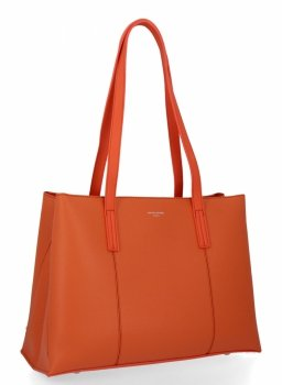 Klasická trojkomorová dámska taška David Jones Orange