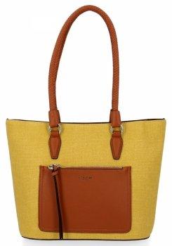 Klasické dámske ležérne tašky David Jones žltý