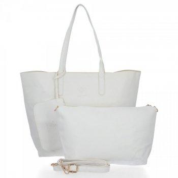 Bee BAG Dámske tašky 2v1 Shopper XXL s poštár Zoey Biela