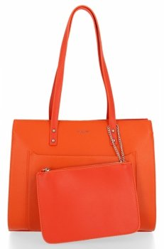 Klasická dámska taška s vreckom od David Jones Orange