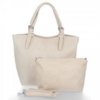 BEE Bag Značkové dámske tašky 2v1 Shopper s poštár Linda Beige