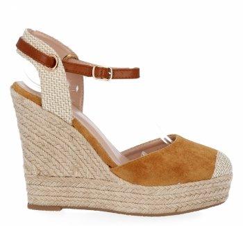 Ťavové Dámske klinové sandále od spoločnosti Givana